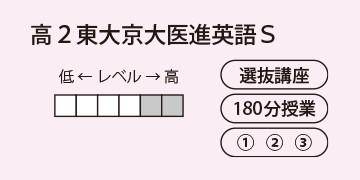 高2東大京大医進英語S