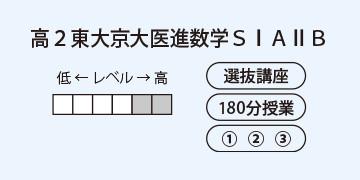 高2東大京大医進数学SⅠAⅡB