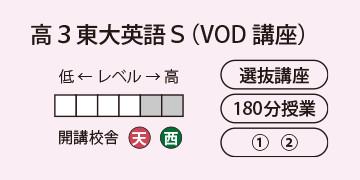 高3東大英語S(VOD講座)