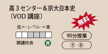 高3センター&京大日本史(VOD講座)