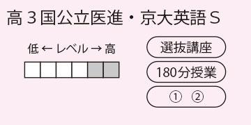 高3国公立医進・京大英語S