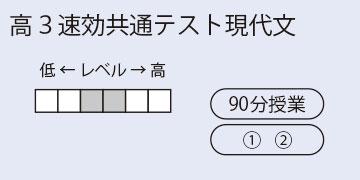 高3速効共通テスト現代文