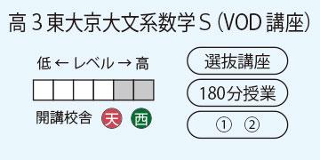 高3東大京大文系数学S(VOD講座)