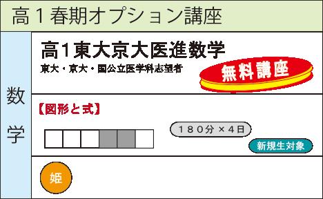 高1東大京大医進数学