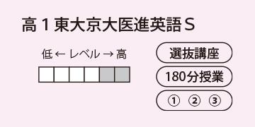 高1東大京大医進英語S